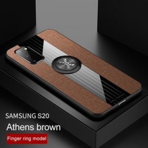 Phone Case for Samsung Galaxy A51 Case S20 Ultra Plus Cover Magnetic Ring Holder Soft Frame Cloth Case for Samsung S20 A71 5G discountshub