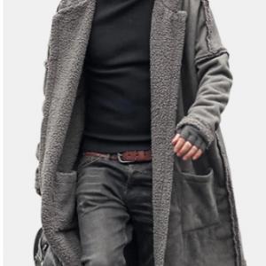 Plus Size Mid Length Double Side Wearable Thicken Fur Warm Wool Blend Coat For Men discountshub
