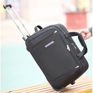 Premium Quality Unisex Large Capacity Oxford Trolley Travel Luggage/Travel Bag.Black discountshub