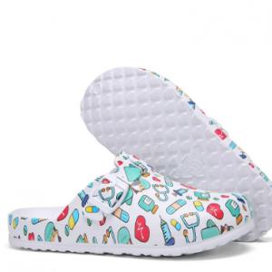 SOCOFY Lightweight Slip-on Buckle Strap Mules Waterproof Non-slip Working Nursing Shoes discountshub