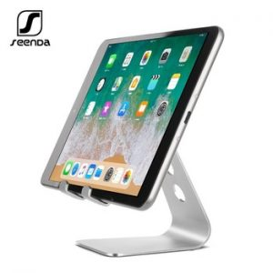 SeenDa Universal Aluminium Stand Desk Holder For Xiaomi Mobile Phone Holder For iPhone Metal Tablets Stand For ipad Black Friday discountshub