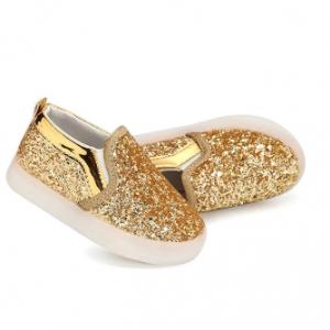 Sequins LED Light Up Luminous Children Flats Casual Kids Shoes discountshub