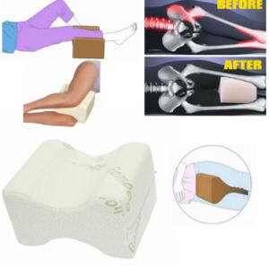 Soft Memory Foam Leg Knee Pillow White Bamboo Fiber Cover Back Aches Night Bed Pillow discountshub