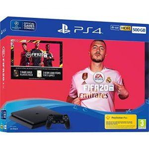 Sony PS4 500GB + FIFA 20 Bundle - Jet Black discountshub