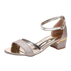 Summer Glitter Sandals For Women Ladies-GOLD discountshub