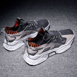 Summer Trend Style Men's Casual Shoes 2020 New Fashion Breathable Mesh Light Personality Sneakers Flying Weaving Tenis Masculino discountshub