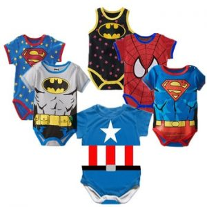 Superman Summer Baby Rompers Newborn Baby Boy Girl Romper Short sleeve Jumpsuit Clothes Baby Clothes Cotton Outfits 0-18M discountshub
