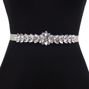 TRiXY S69 Women's Sash Rhinestones belt sliver diamond Belt Bridal Belt Wedding Dress Accessories Marriage Bride Bridal Sashes discountshub