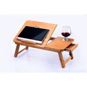 The Bamboo Craft Company Foldable Bamboo Bed Tray / Mobile Laptop Desk discountshub