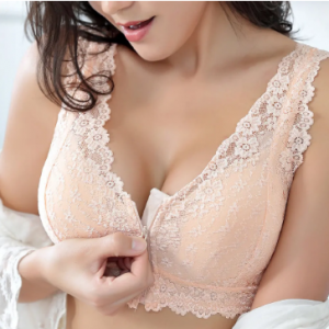 US 16 Zip Front Cotton Lining Gather Wireless Soft Lace Comfort Embroidery Bra By Newchic discountshub