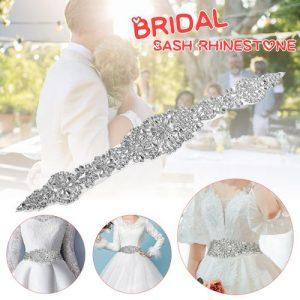 Wedding Bridal Rhinestone Sash Belt Bridal Dress Accessory Crystal Applique discountshub