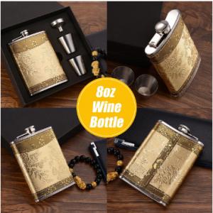 Portable Stainless Steel Hip Flask Wine Bottle Travel Whiskey Vodka Alcohol Liquor Flagon Male Mini Bottle discountshub