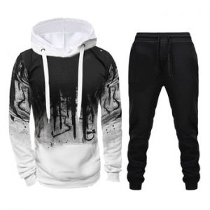 Winter Brand Tracksuit Casual Hoodies For Men Sportswear Two Piece Sets Of Thick Red Sweatshirt + Pants Sport Suit Plus 4XL discountshub