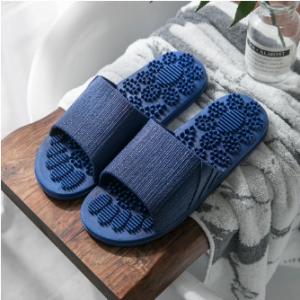 Women Bathroom Massage Acupoint Sole Solid Color Flat Slippers discountshub