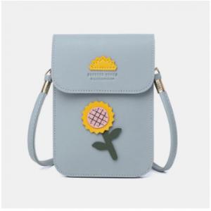 Women Casual Flower Printed 6.3inch Phone Bag Crossbody Bag discountshub