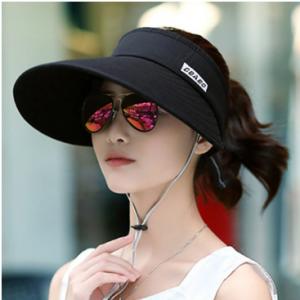 Women Sunscreen Hat Covering Face Big Brim Empty Top Sun Hat discountshub