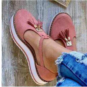 Women Tassel Decor Comfy Breathable Casual Closed Toe Platform Sandals discountshub