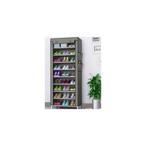 Zimtown 10 Tiers Shoe Rack With Dustproof Cover Shoe Storage Cabinet discountshub