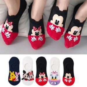5 Pairs/Lot summer Casual Cute women Socks animal Cartoon Mouse Duck socks Cotton invisible funny socks size 35-41Dropshipping discountshub