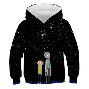 2020 New Custom 3D Sweatshirts Hip Hop boys/girls Hat Funny Print Rick Morty Crazy Scientist Winter Loose Thin Hooded Hoody Tops discountshub