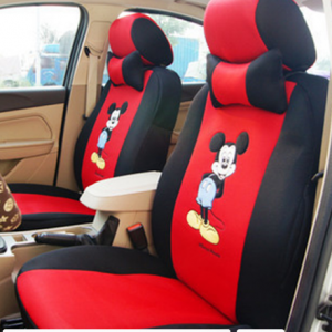 12pcs Cartoon Car Seat Cover Universal Sandwish Auto Seats Protector Breathable Automobil Interior Cushion Accessories for Girls discountshub
