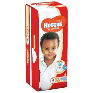 Huggies Dry Comfort Diapers, Size 4 , 8-14 Kg , 8 Diapers (Pack Of 8 - Total of 64 Counts) discountshub