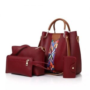 4 In 1 Ladies Handbag Set - Wine discountshub