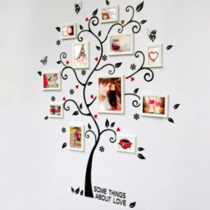 45X60CM Household Composite Photo Wall Stickers Tree Of Happiness Stickers discountshub