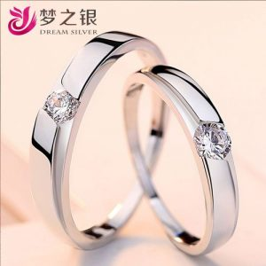 925 Pure Silver Lovers Ring Silver Jewelries Take To Drill A discountshub