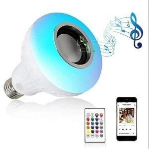 B22 Screw Color Changing Bluetooth Music Speaker LED Bulb discountshub