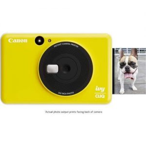 Canon Ivy Cliq Instant Camera Mini Photo Printer- Bumblebee Yellow discountshub
