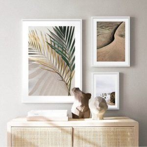 Canvas Painting Vintage Palm Leaf Landscape Poster Quotes Nordic Art Print Modern Scandinavian Wall Picture Living Room Decor discountshub