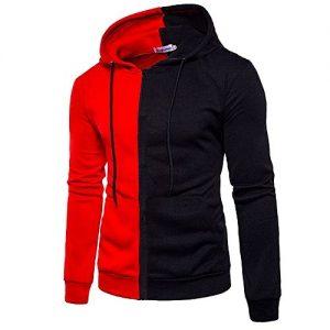 Classy Hoodie Shirt - Red & Black discountshub