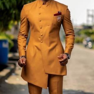 Customized latest men's unique design suit groom dance wedding dress fashion 2 pieces (jacket + pants) discountshub