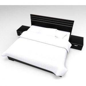 Denver Platform Bed Frame - 6ft By 4.5ft With Free Bedspread discountshub