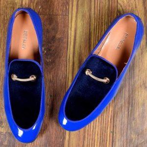 Depally Pradelli Men's Dress Shoe With Gold Rim - BLUE discountshub