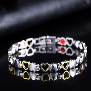 Fashion Healthy Energy Bracelet Hearted design Stainless Steel Health Care Magnetic Gold Bracelet Hand Chain For Women discountshub