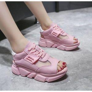Female Sandals Sneakers -Pink discountshub