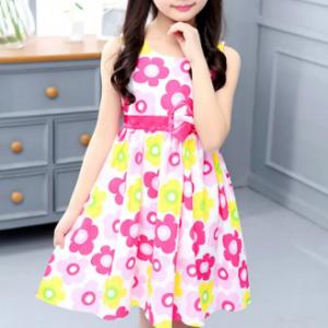 Flower Girls Dresses Kids Sleeveless Casual Dress For 6-15Years discountshub