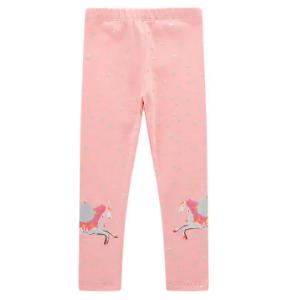 Girl's Unicorn Pattern Star Print Casual Pajama Pants For 1-9Y discountshub