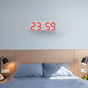 LED Digital Wall Alarm Clock With Snooze Function 5 out of 5 discountshub