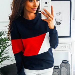 Ladies Long Sleeve Tees- Red, Black and white discountshub