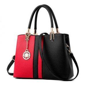 Ladies' Shoulder Handbag - Red & Black discountshub