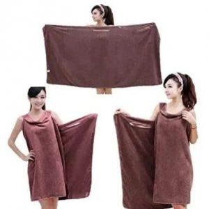 Ladies Wearable Towel- Brown discountshub