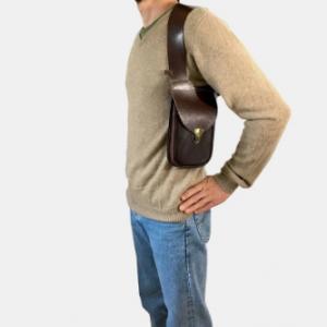 Men EDC Leather Holster Bag Leather Shoulder Holster Bag discounctshub