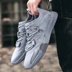 Men Ice Silk Cloth Non Slip Pure Color Soft Outdoor Casual Shoes discountshub