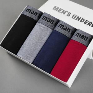 Men Underwear Cotton Boxers Panties Comfortable Mens Underpants Sexy Solid Cuecas Trunks Brand Shorts Men Boxer discountshub