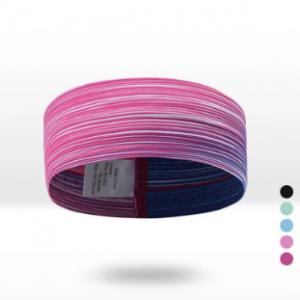 Men Women Polyester Mixture Colors Sweat Anti-slip Yoga Jog Comfortable Elastic Headband discountshub
