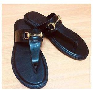 Men's Simple Pam Slippers - Black 3.7 out of 5 discountshub