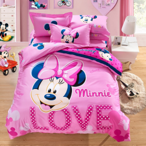 Mickey mouse Bedding Set Cover pillowcase quilt minnie mouse cartoon Children bedclothes bed set Disney Home textile discountshub